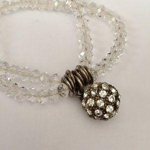 Jewelry - Beaded Crystal Ball Bracelete